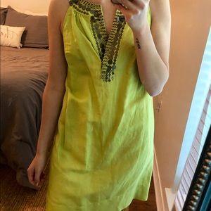 Beaded Lime Green dress